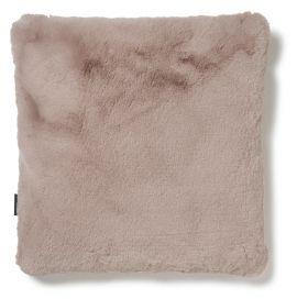 Fluffy Kudde fuskpäls rosa 45x45cm Skinnwille