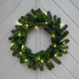Orsa Dörrkrans grön LED 50cm 20L