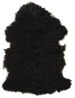 Ebony lockigt fårskinn 85cm Skinnwille