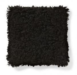 Kuddfodral fårskinn Ebony svart 40x40cm Skinnwille