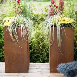 Manhattan Set blomkrukor i cortenstål från Grillsymbol