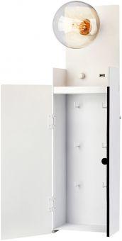 Markslöjd Combo nyckelskåp & vägglampavit 63cm frilagd