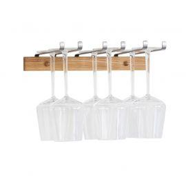 Mazzi vinglashållare 6 glas oljad ek