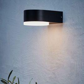 Markslöjd Monza vägglampa utomhus svart LED