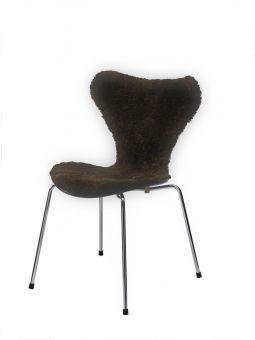 Stolsöverdrag i fårskinn till Sjuan stol 50x80cm mocha