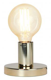 Glans bordlampa i mässing