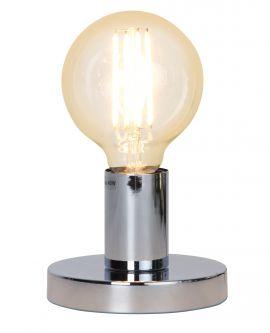 Glans bordlampa i krom