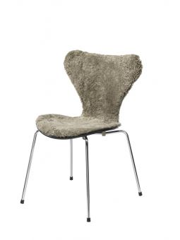 Stolsöverdrag i fårskinn till Sjuan stol 50x80cm sahara