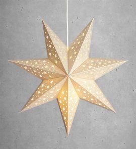 Markslöjd Solvalla pappersstjärna guld 45cm
