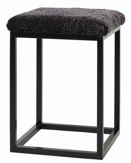 Fårskinnspall Palle S mörkgrå/svart 35x50cm Skinnwille
