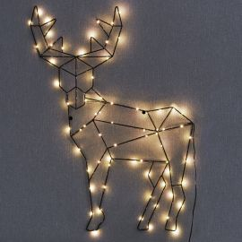 Inomhusdekoration Cupid Deer svart 70cm miljlbild