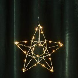 Edge adventsstjärna i metall mässing 38cm
