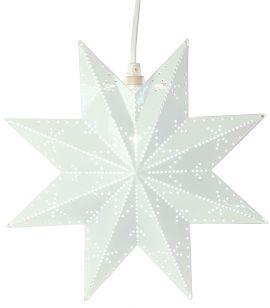 Classic adventsstjärna i metall vit 28cm