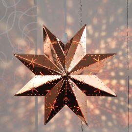 Adventsstjärna i metall Classic 28 cm på vägg