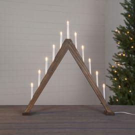 Elljusstake Trill trä brun 79cm hög miljöbild hög