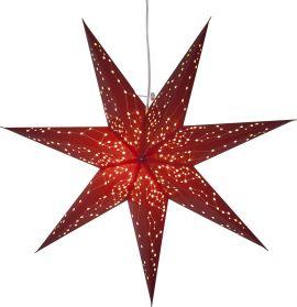 Adventsstjärna Galaxy i papper röd 60cm frilagd
