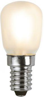 Päronlampa filament LED varmvitt frostad tänd