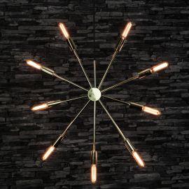 Adventsstjärna Pix i metall mässing 56cm miljöbild