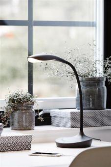 Swan bordslampa med USB uttag