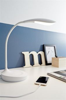 Swan USB Bordlampa 1 vit