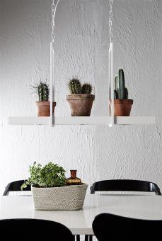 Tray taklampa vit LED Miljöbild