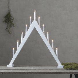 Elljusstake Trill i trä vit 79cm hög