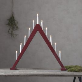 Elljusstake Trill trä röd 79cm hög