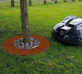 Trädring för robotgräsklippare 60cm rålpåt brun