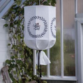 Round Takskärm Carl Larsson vit PR Home