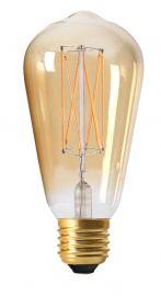 PR Home LED-lampa filament E27 Edison Gold 6cm 2,5W Dimbar