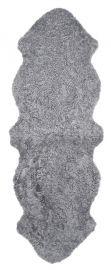 Skinnwille korthårigt fårskinn Curly charcoal/grå 180cm