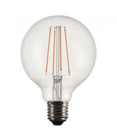 LED lampa E27 Filament Globe 9,5cm 4W