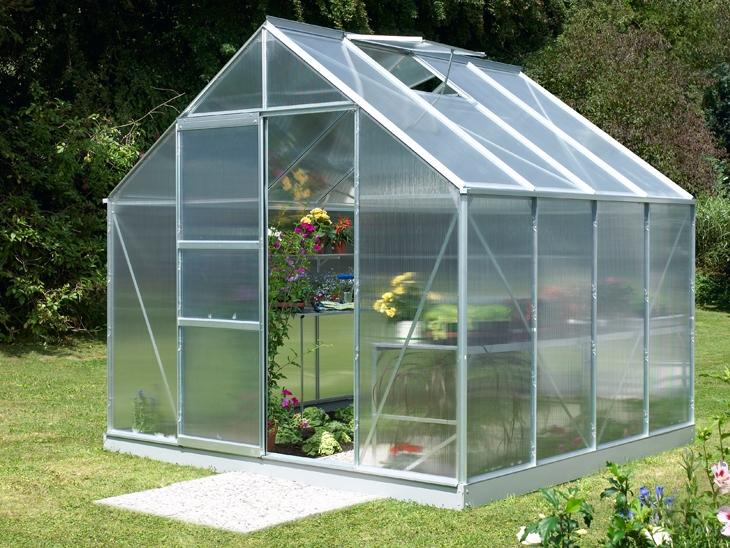 Merkur växthus med takventilation